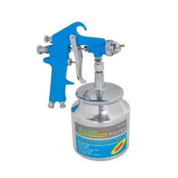 Air Spray Gun 750ml Nozzle 1.2-2.5mm, 50PSI, Inlet G 1/4″ Chrome Plater