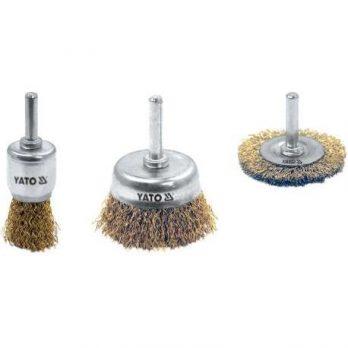 3 Pcs Set Of Brass Cup Brush Yato Brand