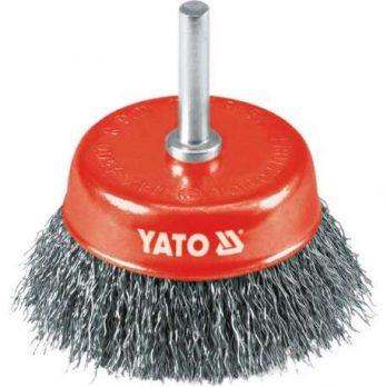 Cup Brush Steel Wire 75mm,6mm bar Yato Brand