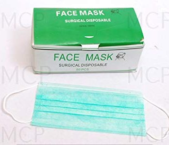 SURGICLE MASK  BLUE COLOR 50 PC/BOX