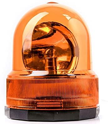 Revolving warning light orange