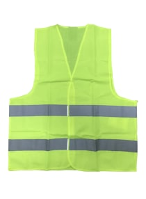 Classic Hi Vis Safety Reflective Jacket Yellow Free Size